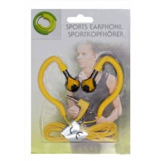 Sport Earphone Ancus 3.5 mm Yellow for mp3, mp4 and Sound Devices