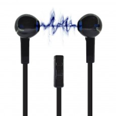 Hands Free Ancus Viker in-Earbud Stereo 3.5 mm for Apple-Samsung-HTC-Sony Black with Answer,Vol
