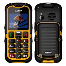 Maxcom MM910 (Dual Sim) Water-dust proof IP67 with Torch, FM Radio (Works without Handsfre) and Camera Orange - Black