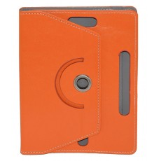 "Book Case Ancus Rotate Universal for Tablet 8"" Inches Orange (22 cm x 16 cm)"