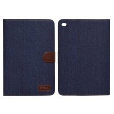 Book Case Ancus Teneo Fabric for Apple iPad Mini 4 Dark Blue