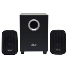 Speaker Stereo Music-F D-Y5 2.1 5Wx2+ 3W RMS Black with USB plug 13x8.5x5cm