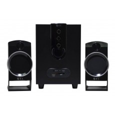 Multimedia Speaker Stereo Nakai SE-139 2.1 3Wx2+6W RMS Black with USB, SD Port 17x8x5cm