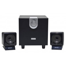 Speaker Stereo Muvgd EM-6204 2.1 4Wx2+8W RMS Black with EU plug 11x8.5x9cm
