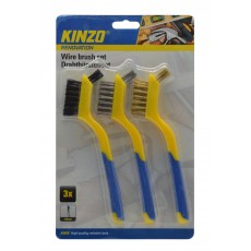 Wire Brush Set Kinzo 2023195 in Different Types (Steel, Brass, Plastic) 3 Pcs