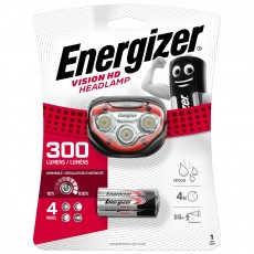Energizer Vision HD Headlight 3 Led 180 Lumens with Batteries 3 x AAA Red