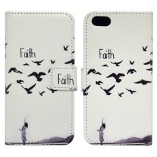 Book Case Ancus Art Collection for Apple iPhone SE/5/5S Faith