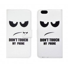 Book Case Ancus Art Collection for Apple iPhone 6/6S Don't Touch My Phone