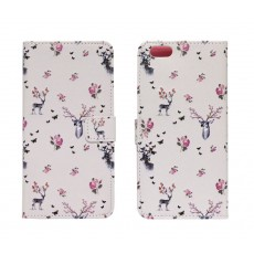 Book Case Ancus Art Collection for Apple iPhone 6 Plus/6S Plus Flower