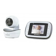"Baby Monitor Motorola MBP36S with 3.5"" Diagonal Colour Screen, Remote Pan, Tilt, and Zoom and Up to 300m Range"