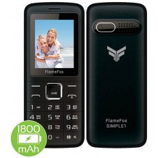 "FlameFox Simple1 (Dual Sim) 1.77"" with Bluetooth, Camera, FM Radio, Led Torch"