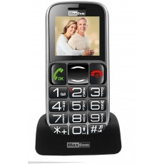 "Maxcom MM462BB 1.8"" with Large Buttons, Bluetooth, Radio (Works without Handsfre), Torch, Camera and Emergency Button Black"