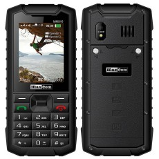 Maxcom Strong MM916 3G (Dual Sim) Water-dust proof IP67 with Bluetooth, Torch, FM Radio and Camera Black