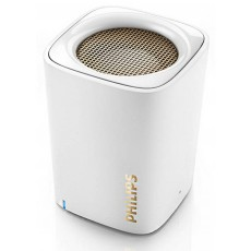 Wireless Portable Speaker Philips BT100W 2W White with Speakerphone and 3.5mm Audio-in Connector