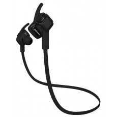 Bluetooth Hands Free Jabees beatING Sport Sweat-Proof IPX4 with Flat Cable Black
