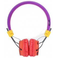 Headphone Stereo NIA Foldable NIA-X2 3.5 mm Purple with Bluetooth, Microphone, FM Radio and MP3 Player with Micro SD MC
