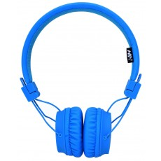 Headphone Stereo NIA Foldable NIA-A1 3.5 mm Blue with Microphone for Mobile Phones, Tablet and Electronic Devices