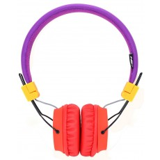 Headphone Stereo NIA Foldable NIA-A1 3.5 mm Purple with Microphone for Mobile Phones, Tablet and Electronic Devices