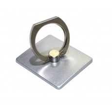 Mobile Stand 360° Rotating Ring for Smartphones Silver 3.5 x 4 cm