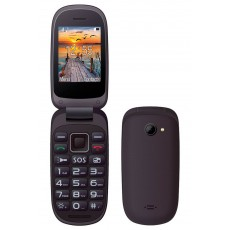 "Maxcom MM818 (Dual Sim) 2,4"" with Large Buttons, Radio (Works without Handsfre), and Emergency Button Black"