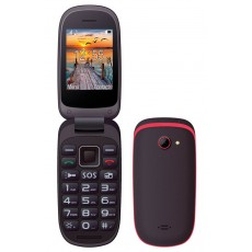"Maxcom MM818 (Dual Sim) 2,4"" with Large Buttons, Radio (Works without Handsfre), and Emergency Button Black-Red"