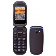"Maxcom MM818 (Dual Sim) 2,4"" with Large Buttons, Radio (Works without Handsfre), and Emergency Button Black-Blue"