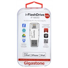 Gigastone USB 3.0 i-FlashDrive IF-6600 64GB OTG MFI for iPhone & iPad & iPod
