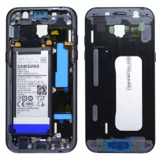 Middle Frame Cover Samsung SM-A520F Galaxy A5 (2017) with Battery and On/Off. Volume Buttons Black Original GH82-13664A
