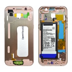 Middle Frame Cover Samsung SM-A520F Galaxy A5 (2017) with Battery and On/Off. Volume Buttons Pink Original GH82-13664D