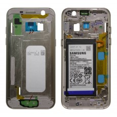 Middle Frame Cover Samsung SM-A320F Galaxy A3 (2017) with Battery and On/Off. Volume Buttons Gold Original GH82-13667B