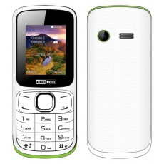 "Maxcom MM129 (Dual Sim) 1,77"" with Camera, Bluetooth, Torch and FM Radio White - Green"