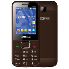 "Maxcom MM141 (Dual Sim) 2.4"" with Camera, Bluetooth, Torch and FM Radio Brown"