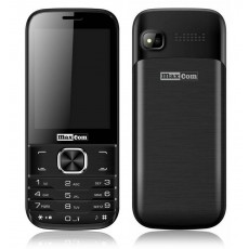 "Maxcom MM237 (Dual Sim) 2.8"" with Camera, Bluetooth, Torch and FM Radio Black"
