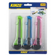 Cutter Knife Kinzo 49196 Set 3 Pieces