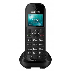 "Maxcom MM35D 1.77"" with Large Buttons, Radio (Works without Handsfre), and Desktop Charger Black"