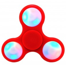 Fidget Spinner ABS Plastic Led 3 Leaves Red 2.5 min