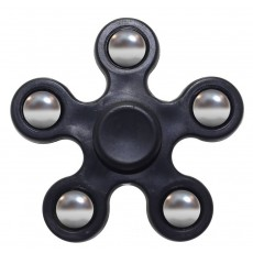 Fidget Spinner ABS Plastic 5 Leaves Black 2.5 min