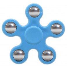 Fidget Spinner ABS Plastic 5 Leaves Blue 2.5 min