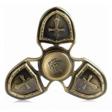 Fidget Spinner Metal Medieval 3 Leaves Gold 4 min