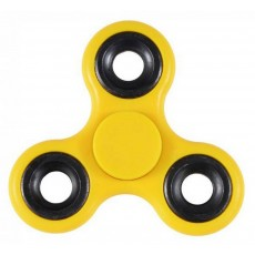 Fidget Spinner ABS Plastic 3 Leaves Yellow 2.5 min