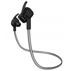 Bluetooth Hands Free Jabees beatING Plus Sport Sweat-Proof IPX4 with Reflective Stripe Flat Cable Black