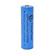 Rechargable Ιndustrial Τype Βattery FocusPower LCR 14500 Li-ion 1200mAh 4.2V