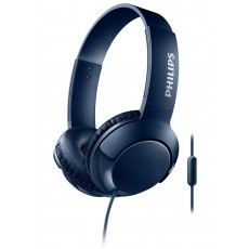 Stereo Headphone Philips BASS+ SHL3075BL/00 for Apple-Samsung-Sony-Huawei-LG with Microphone 3.5 mm Blue