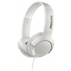 Stereo Headphone Philips BASS+ SHL3075WT/00 for Apple-Samsung-Sony-Huawei-LG with Microphone 3.5 mm White