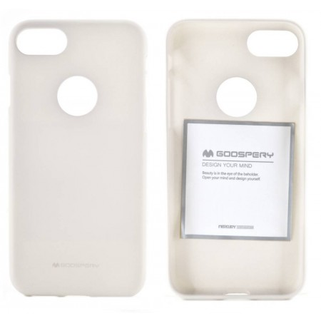 Case Soft Feeling Goospery for Apple iPhone 7 White by Mercury