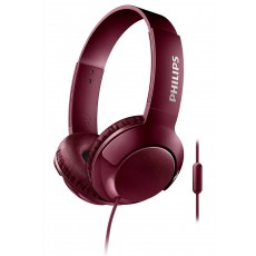 Stereo Headphone Philips BASS+ SHL3075RD/00 for Apple-Samsung-Sony-Huawei-LG with Microphone 3.5 mm Red