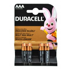 Battery Αlkaline Duracell Long Lasting LR03 / MN2400 size AAA Pcs. 4