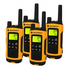 Walkie Talkie Motorola TKLR T80 Extreme Quad Orange, Waterproof, with Led Torch and Hands Free Coverage 10 km