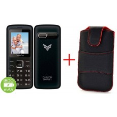 "FlameFox Simple1 (Dual Sim) 1.77"" with Bluetooth, Camera, FM Radio, Led Torch + Case"