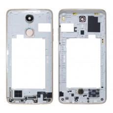 Middle Frame Cover LG K8 (2017) M200N with Buzzer, Antenna and Camera Lens Gold Original ACQ89789101